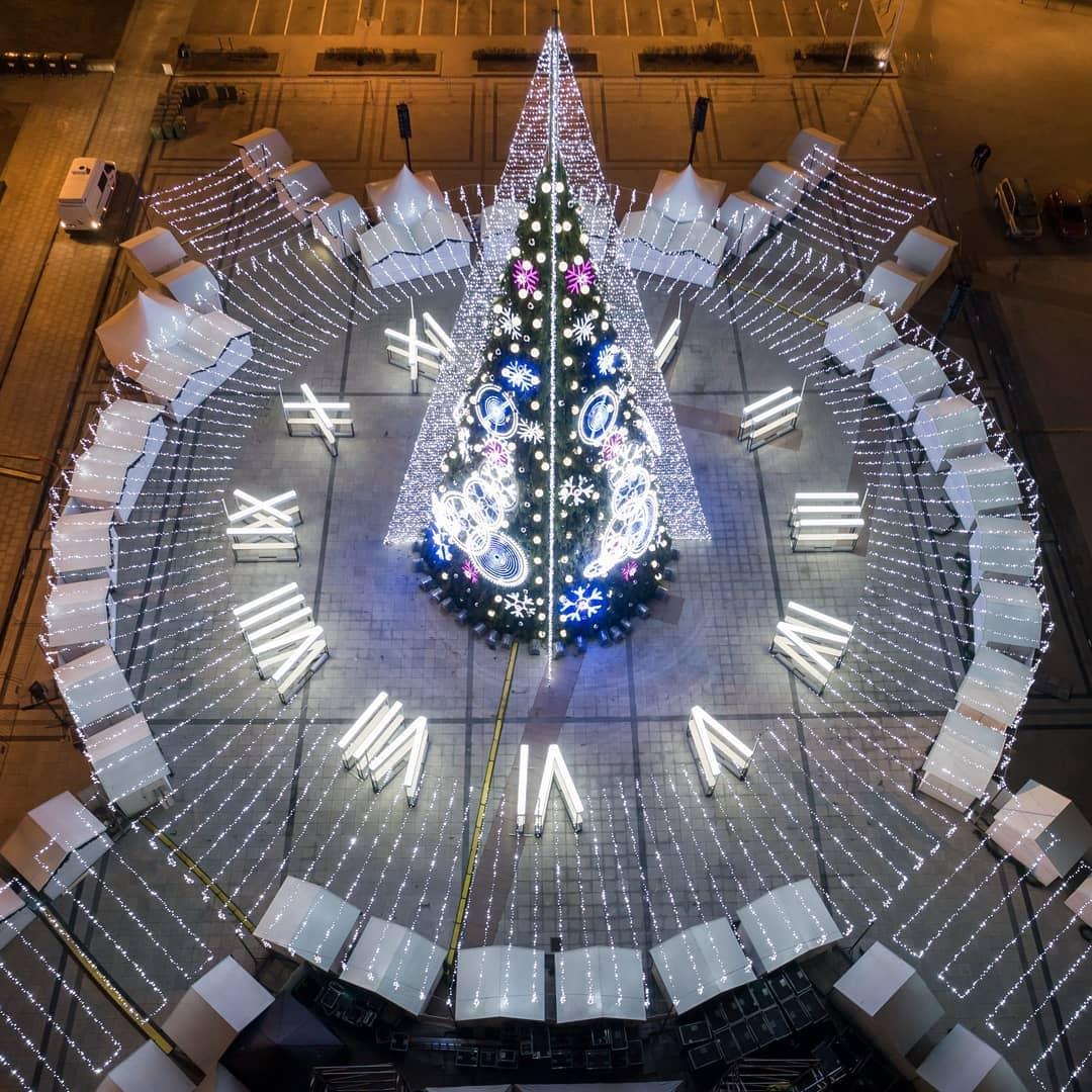 Vilnius Christmas tree in 2018