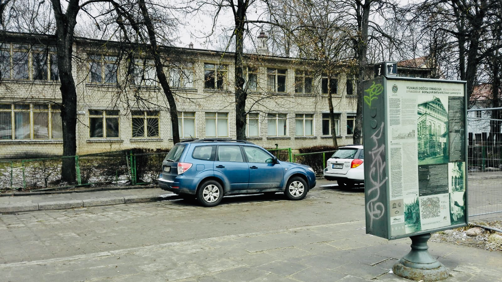 A Soviet primary school in the site of the Great Synagogue of Vilna