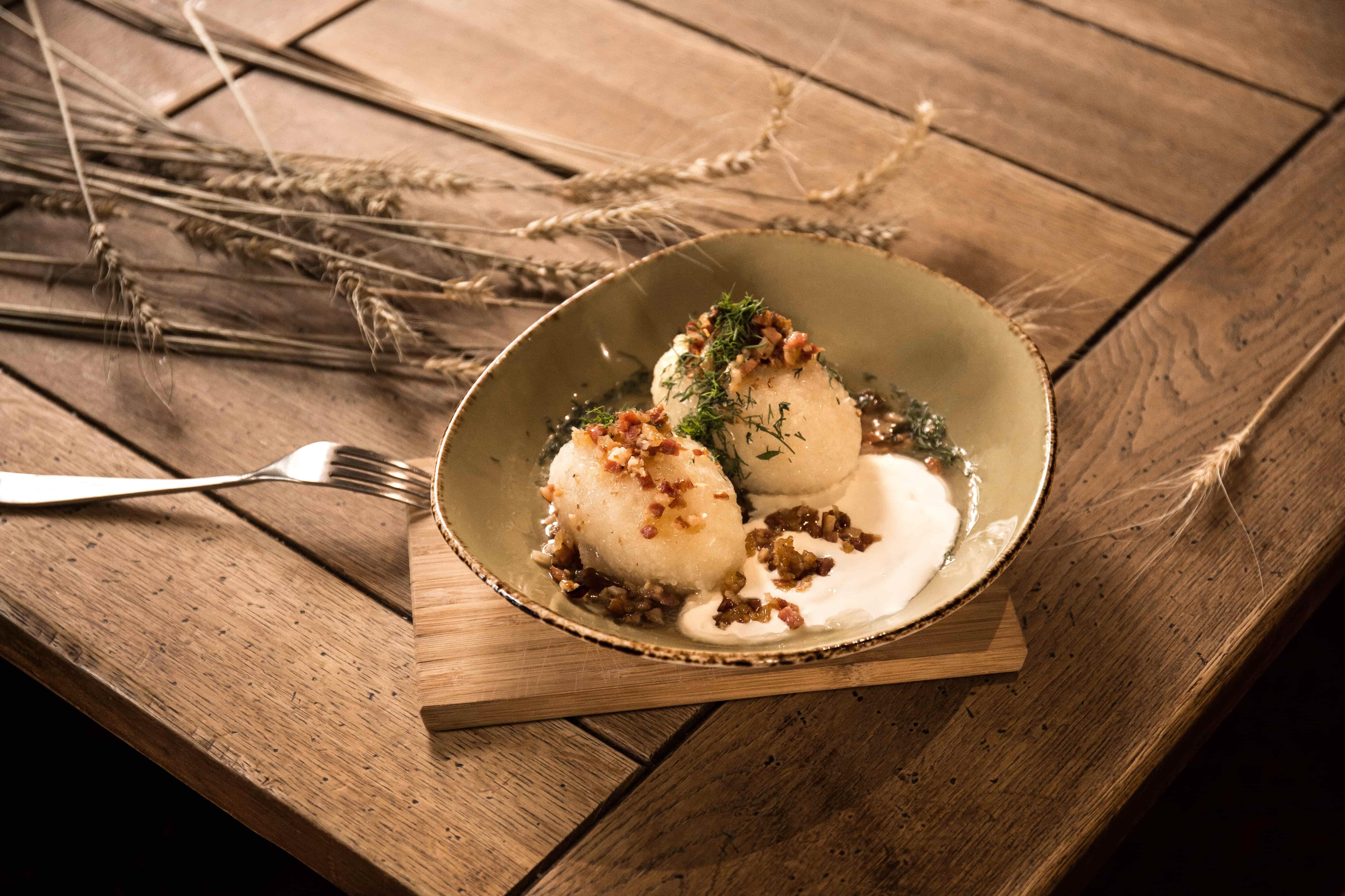 2 potato dumplings