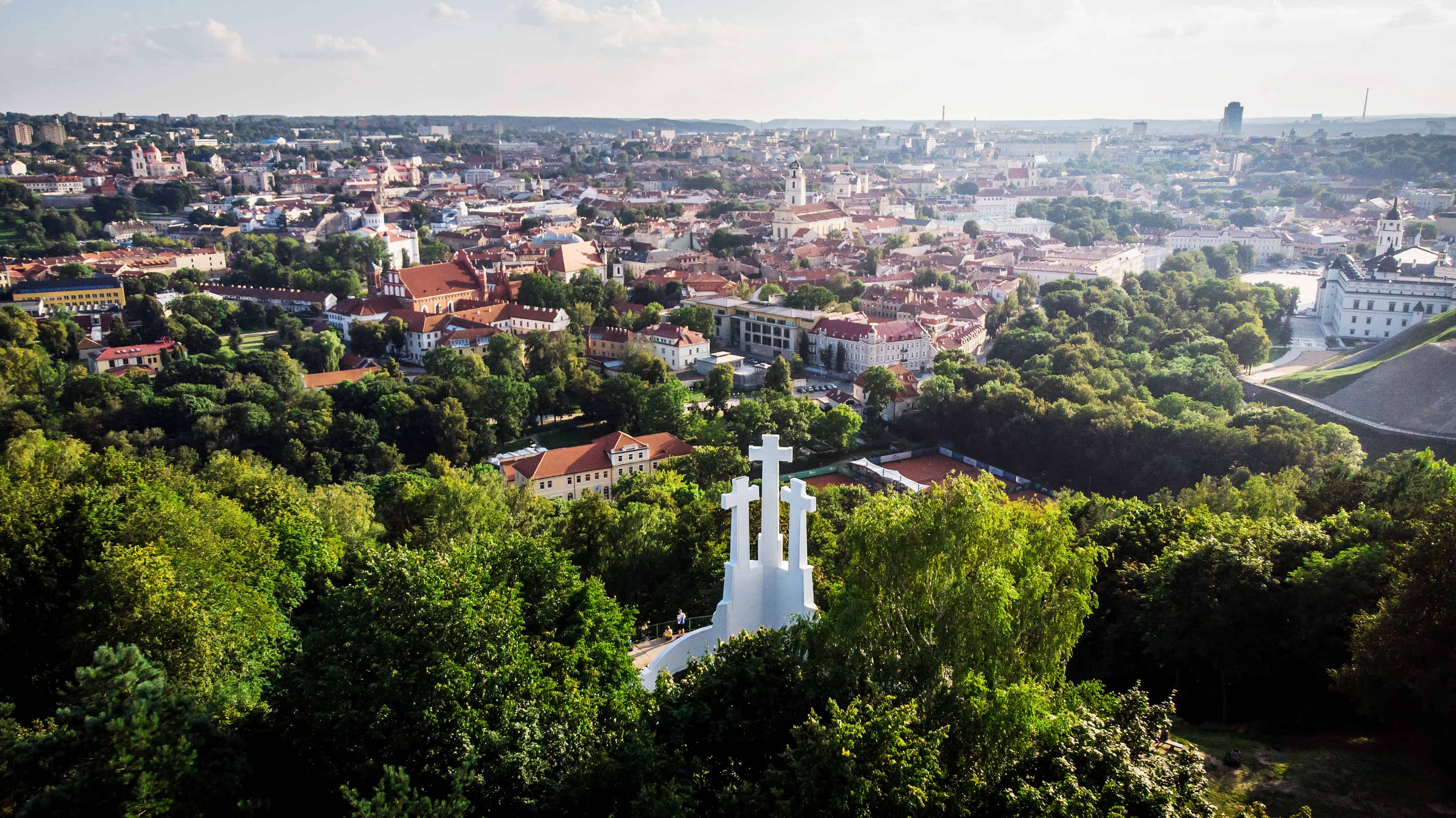 The panoramic view of Vilnius