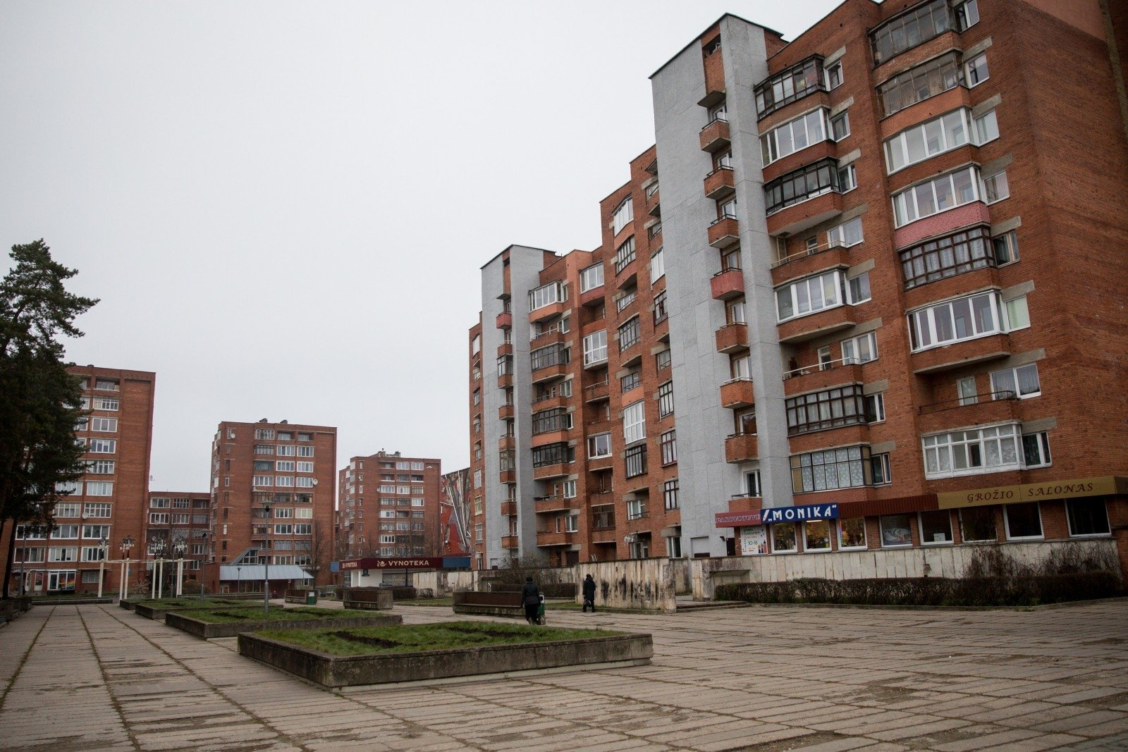 Visaginas - town built for workers of Soviet nuclear plant