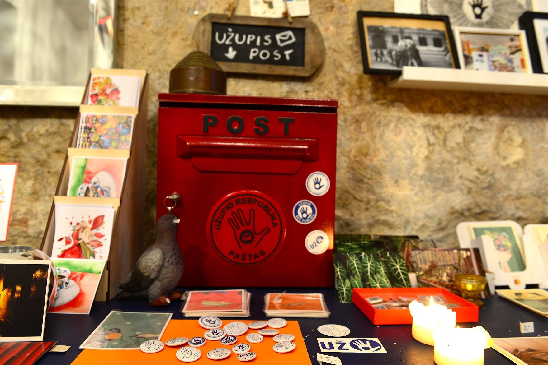 Send postcards from Uzupis post