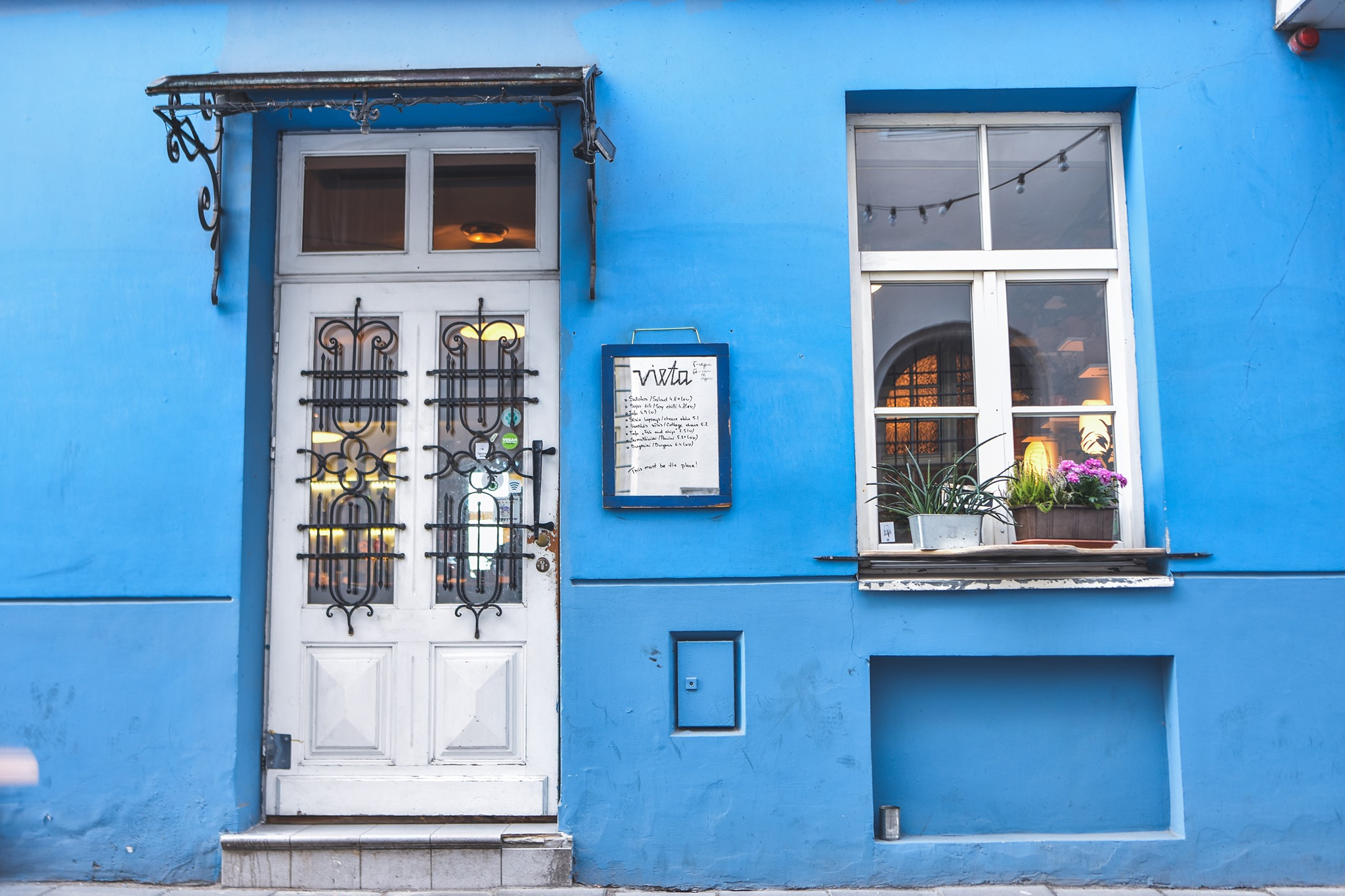 Vieta is a perfect tiny vegetarian restaurant in Vilnius Old Town
