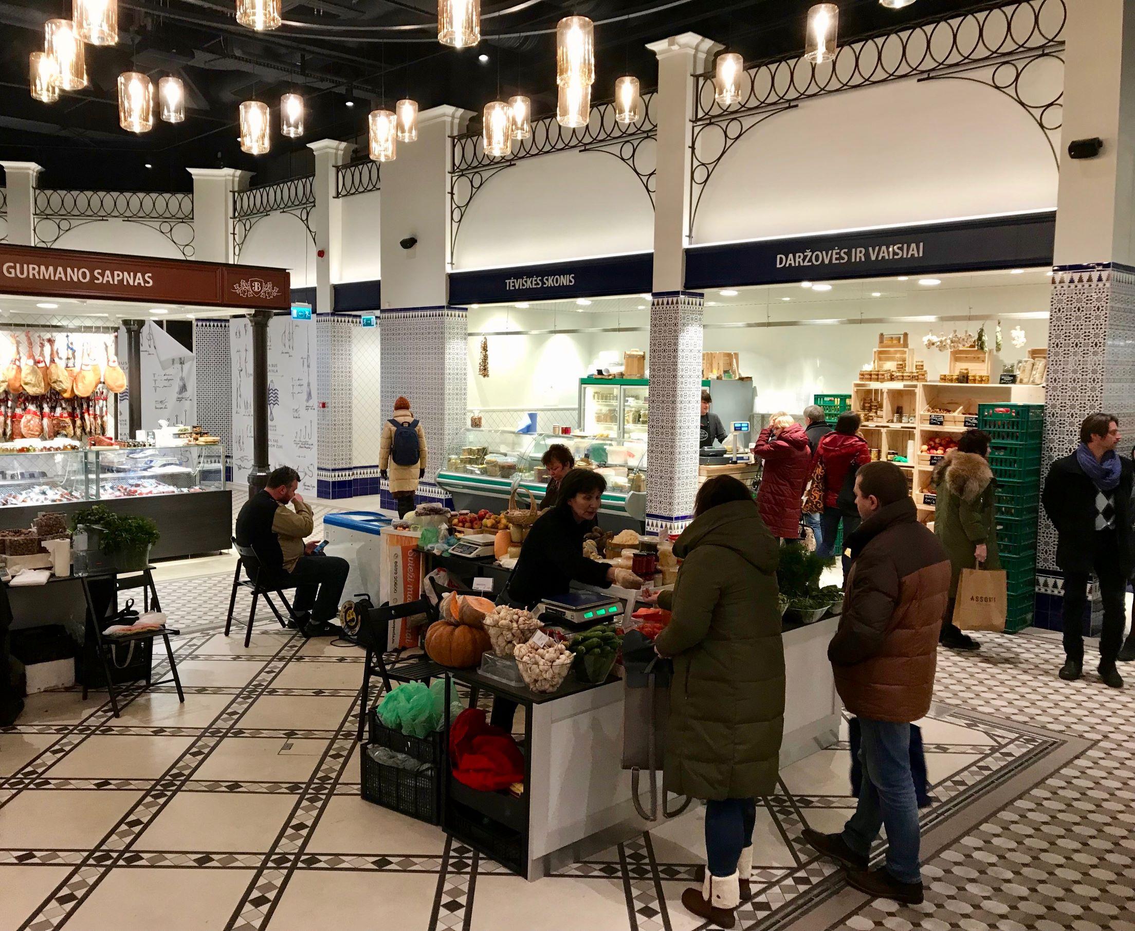Benedikto Market in Vilnius