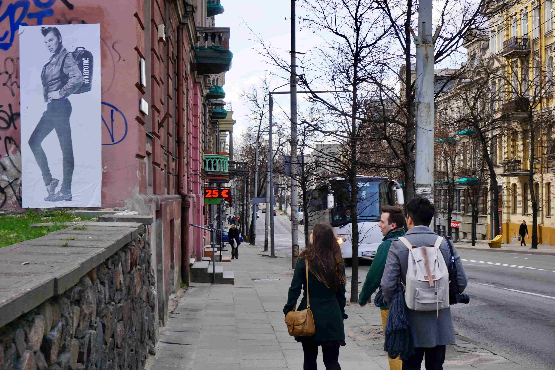 A group on free alternative Vilnius tour in Stotis district