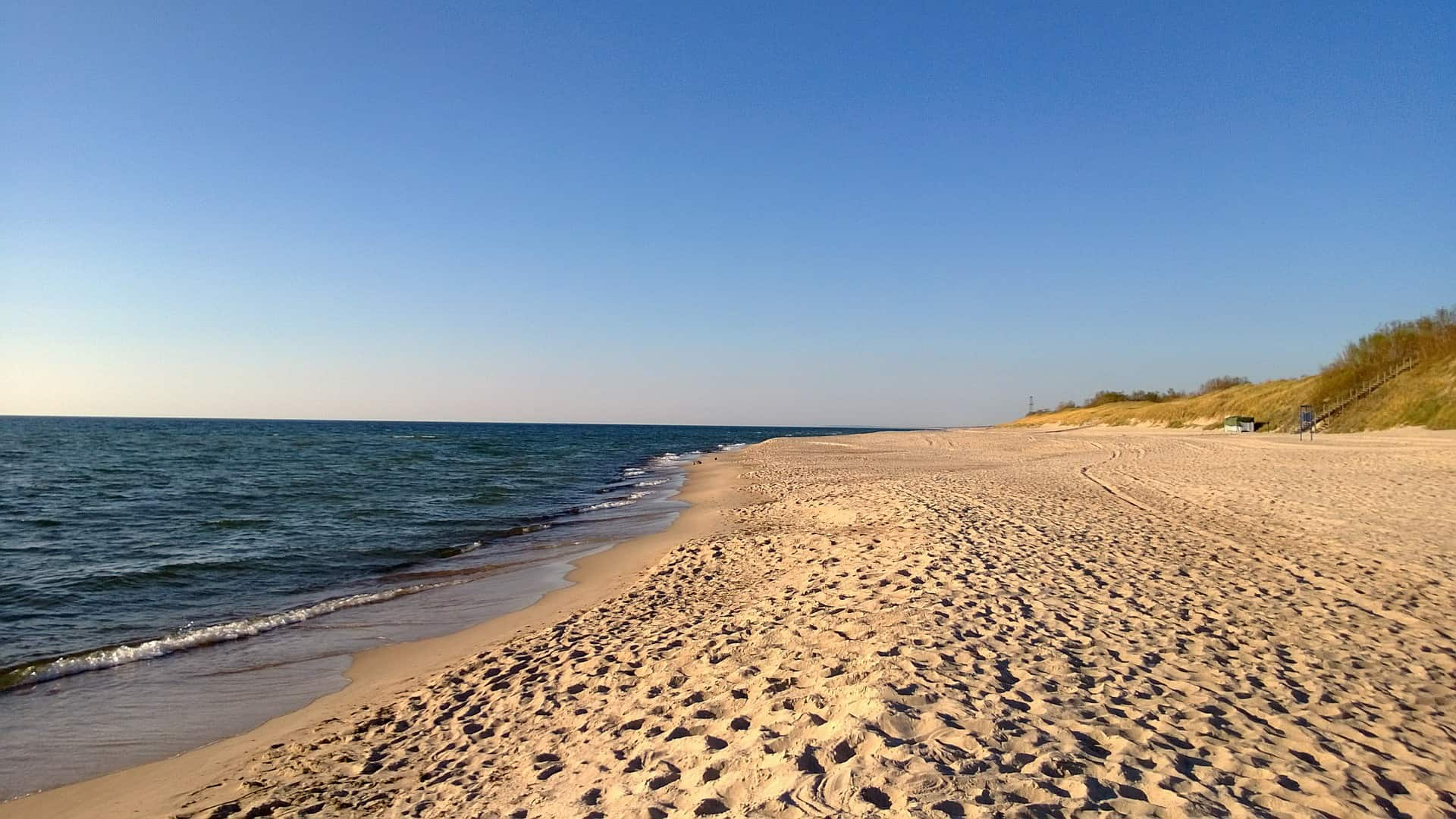 White sand beaches of Lithuanian Seaside