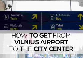 How to get from Vilnius airport to the city centre