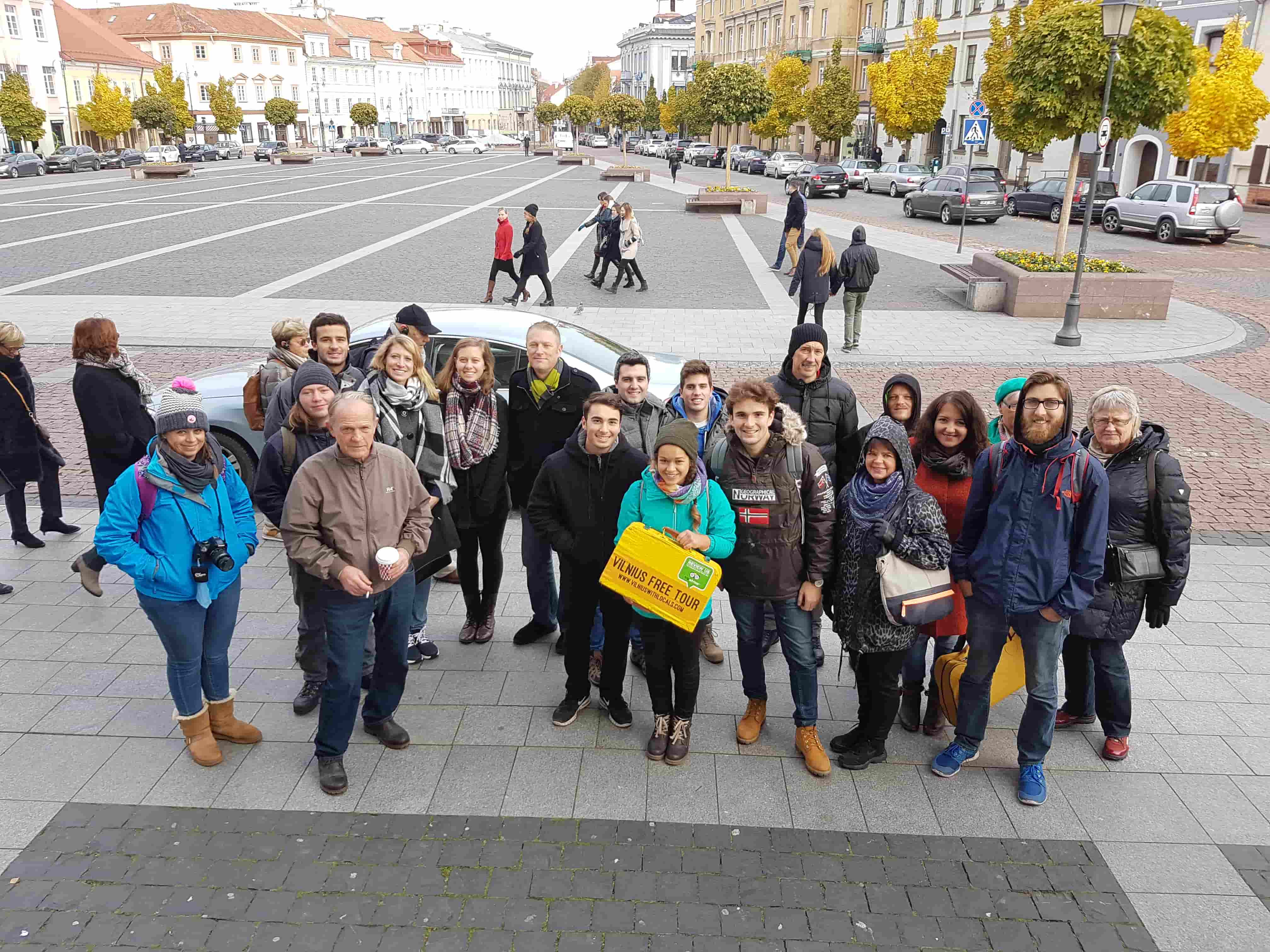 A group of Vilnius Free Walking Tour