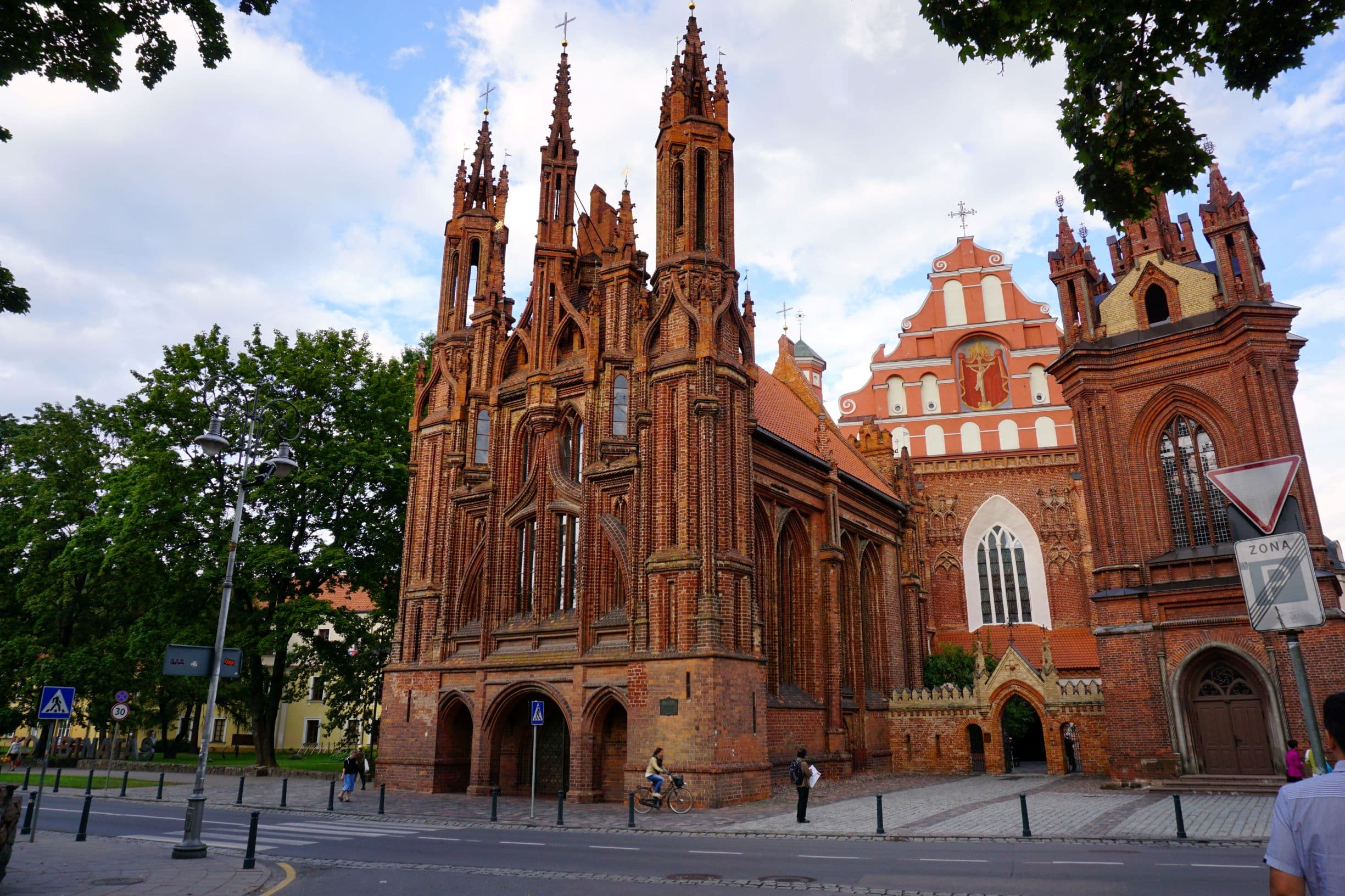 Beautiful St. Anne's Church in Vilnius Old Town