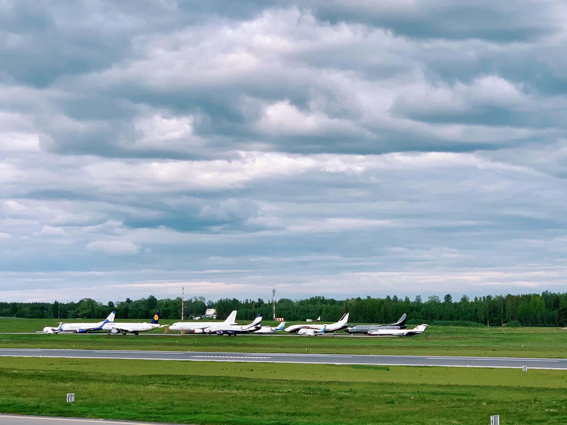 Planes in Vilnius airport