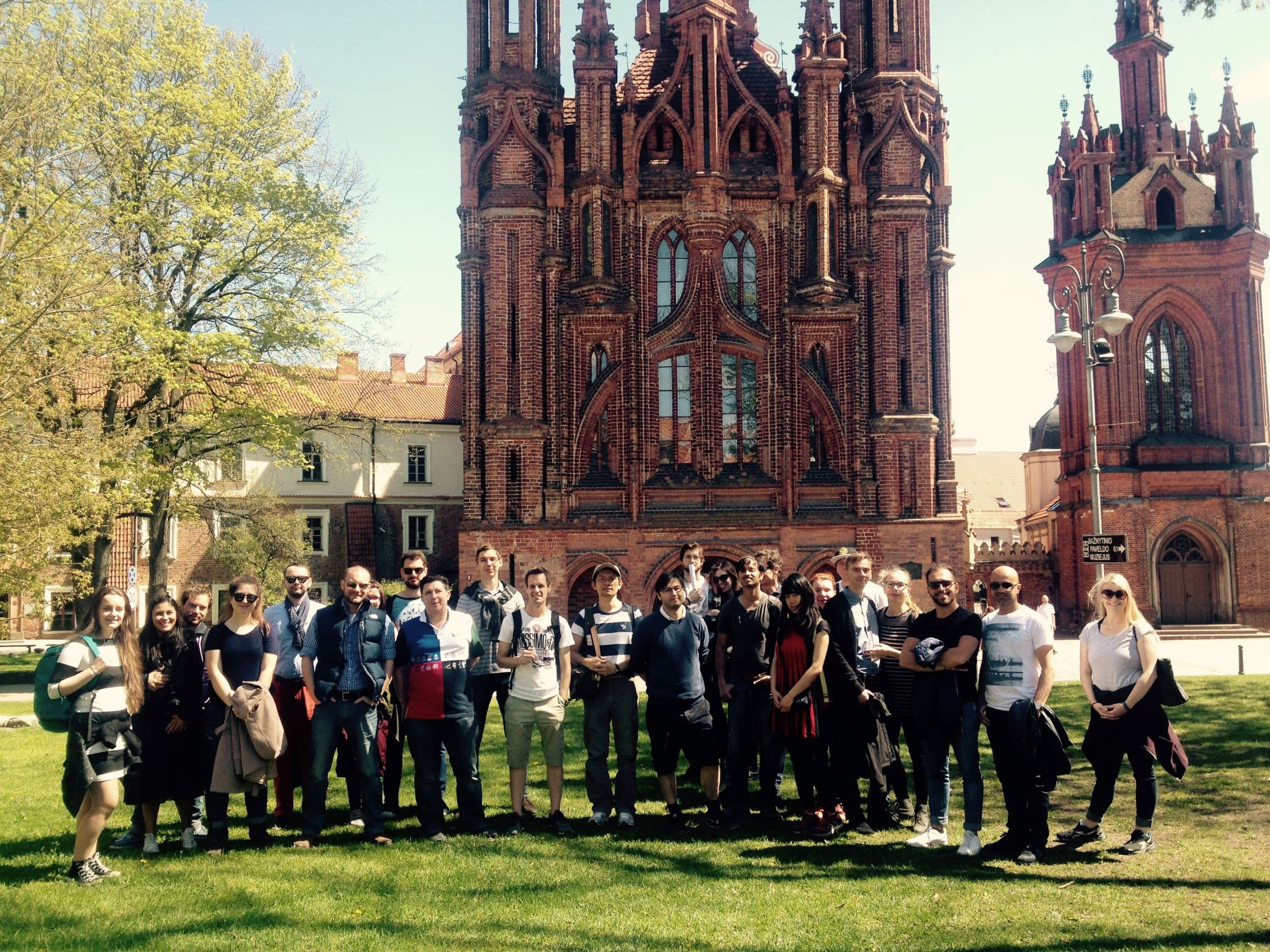 Visiting St Anne's church on Vilnius Free Walking Tour