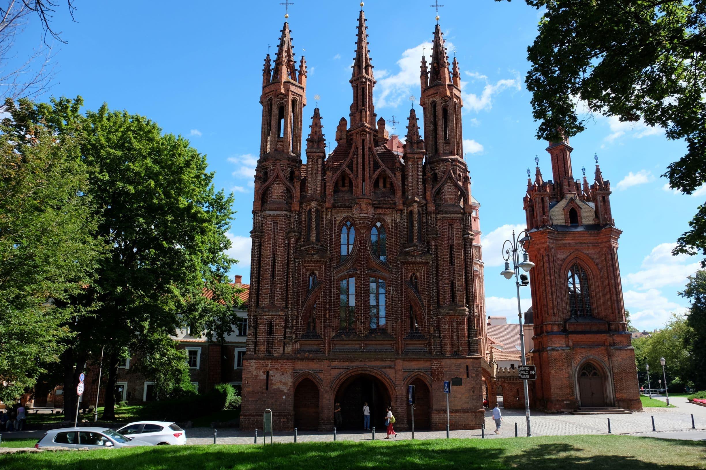A legendary St Anne's church in Vilnius