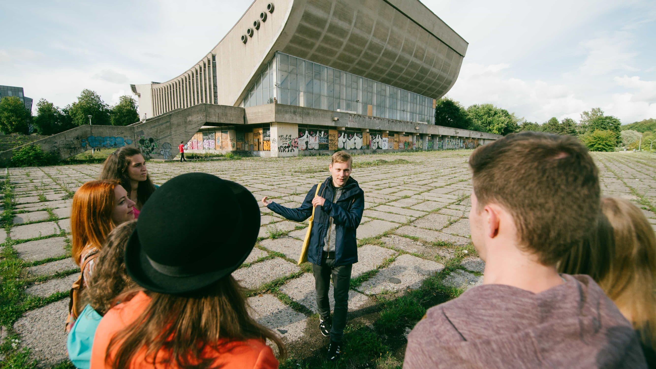 Palace of Concerts & Sports on Soviet Vilnius tour