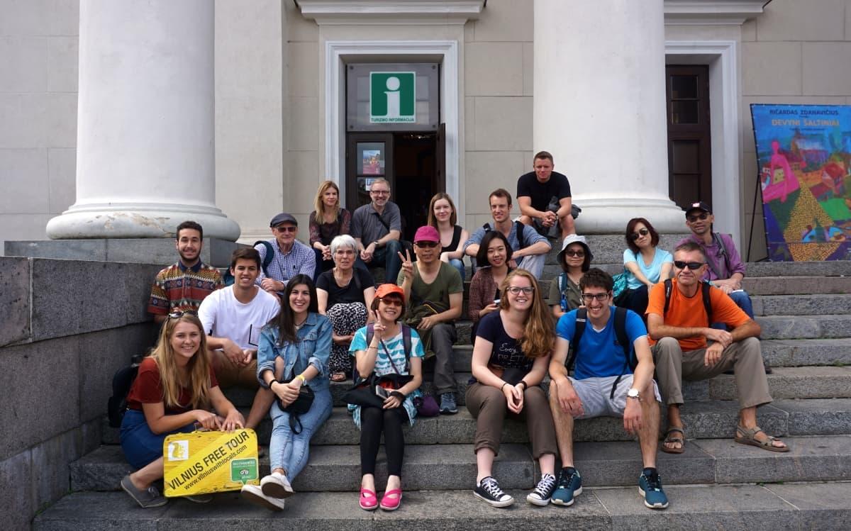The beginning of Vilnius Free Walking Tour
