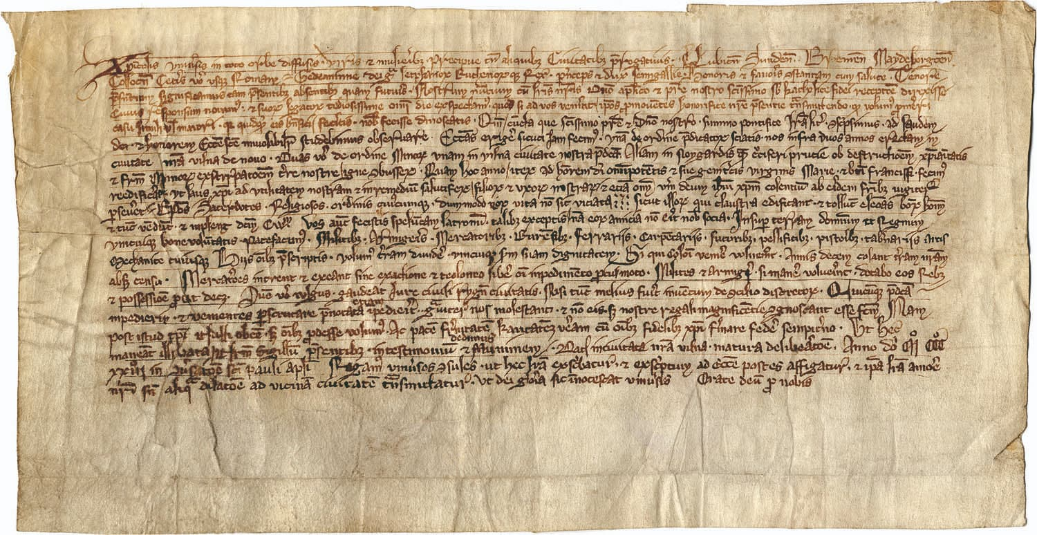 Gediminas letter to citizens of western European cities in 1323