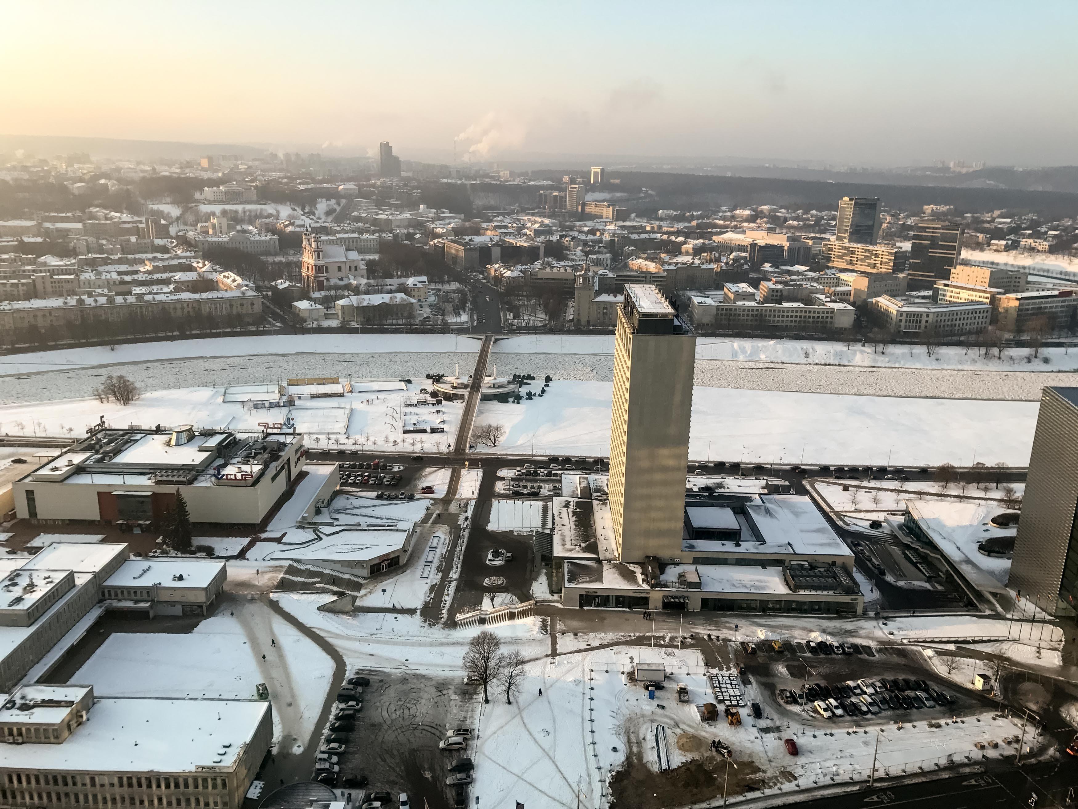 Vilnius view in winter