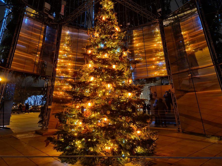 Classical Vilnius Christmas Tree inside the surreal Christmas Tree