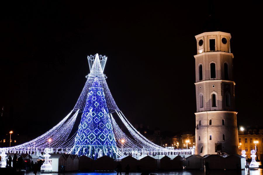 The main Vilnius Christmas tree in 2019