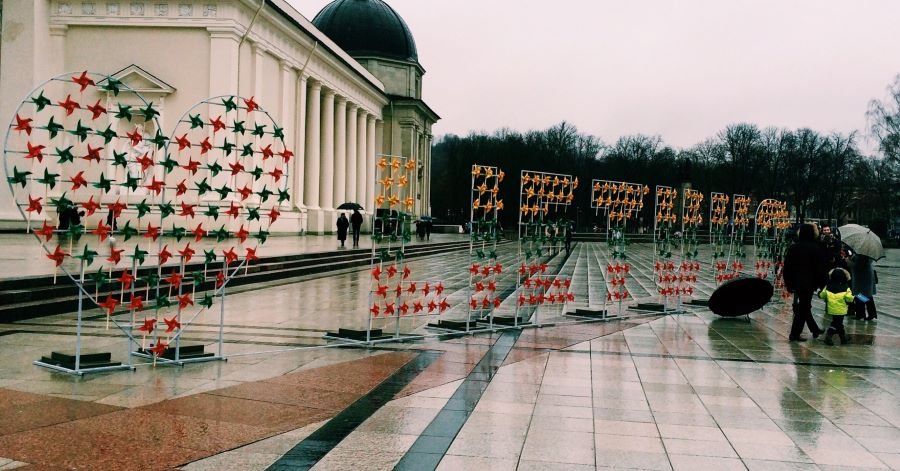 A sign of heart and Lietuva for Independence day