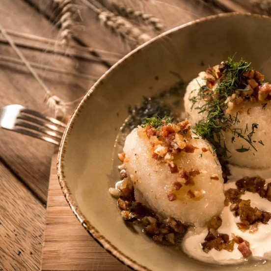 Tasting traditional Lithuanian food – zeppelins on Vilnius Food Tour