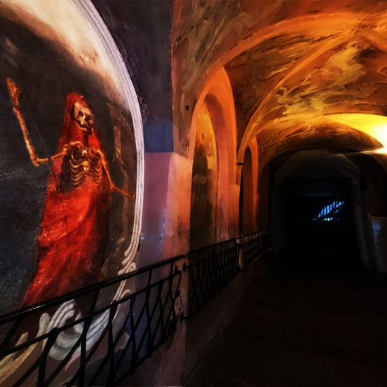 Painting in the church on Vilnius Ghost tour