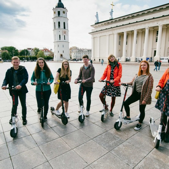 Private Vilnius City Tour with E-scooters