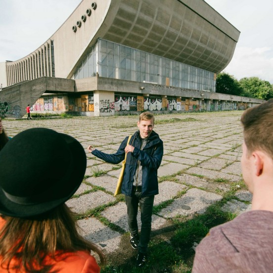 Brutal architecture on Soviet Vilnius tour